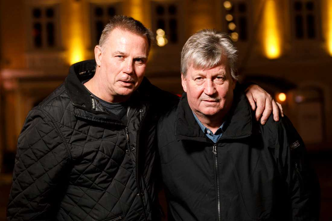 Mats Lusth och Pekka Lindmark i dag.