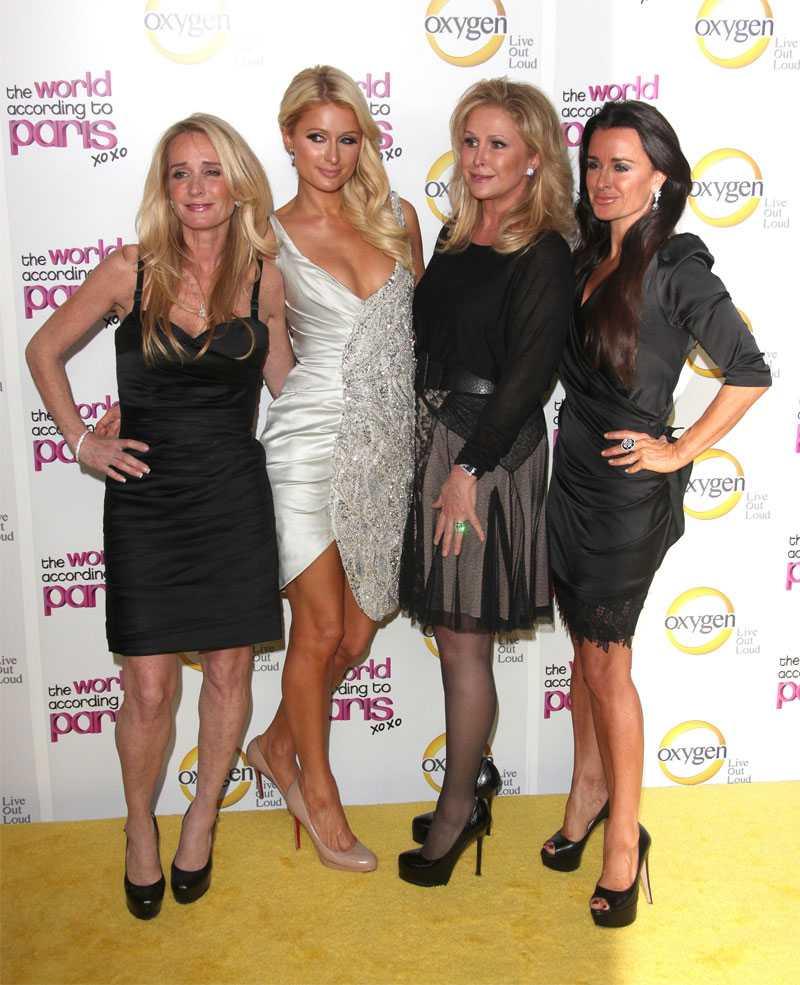 Kim Richards (längst till vänster) tillsammans med Paris Hilton, Kathy Hilton och Kyle Richards.