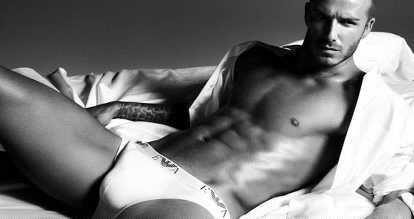 David Beckham har välfyllda kalsonger.