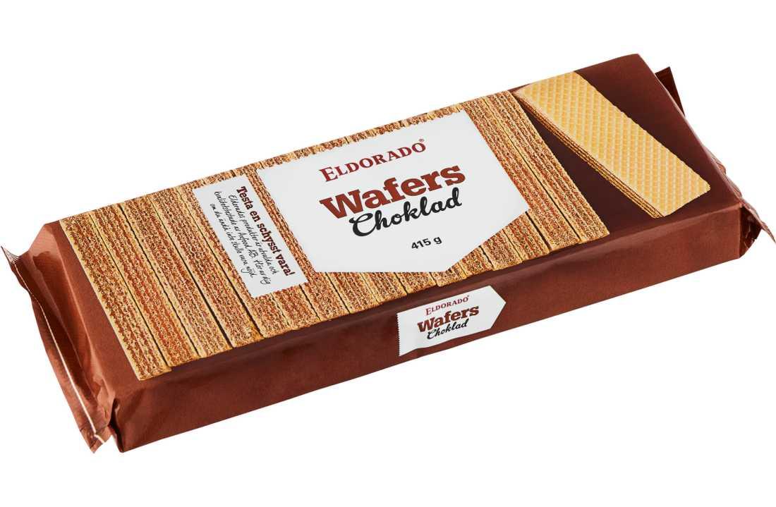 Axfood återkallar Eldorado Wafers Choklad 415g.