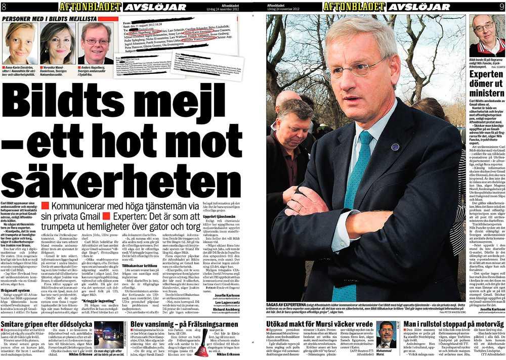 Aftonbladet den 24 november.