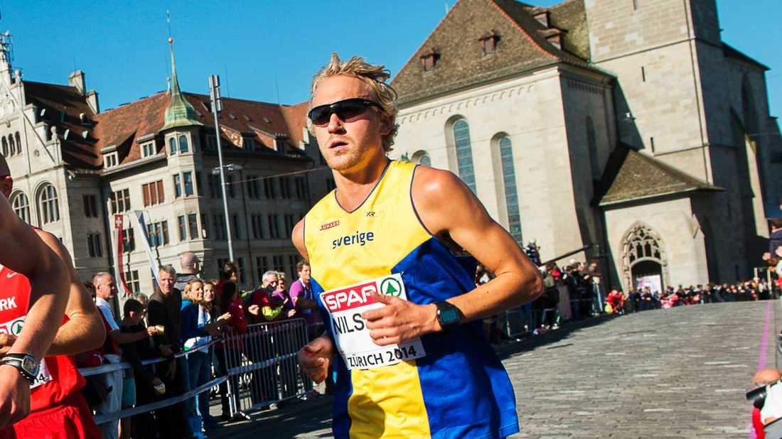 David Nilsson har satt nytt svenskt maratonrekord. Arkivbild.