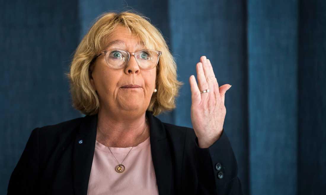 Finansregionrådet Irene Svenonius (M) är stolt över att Region Stockholm går med plus 6 miljarder mitt i en svår pandemi.