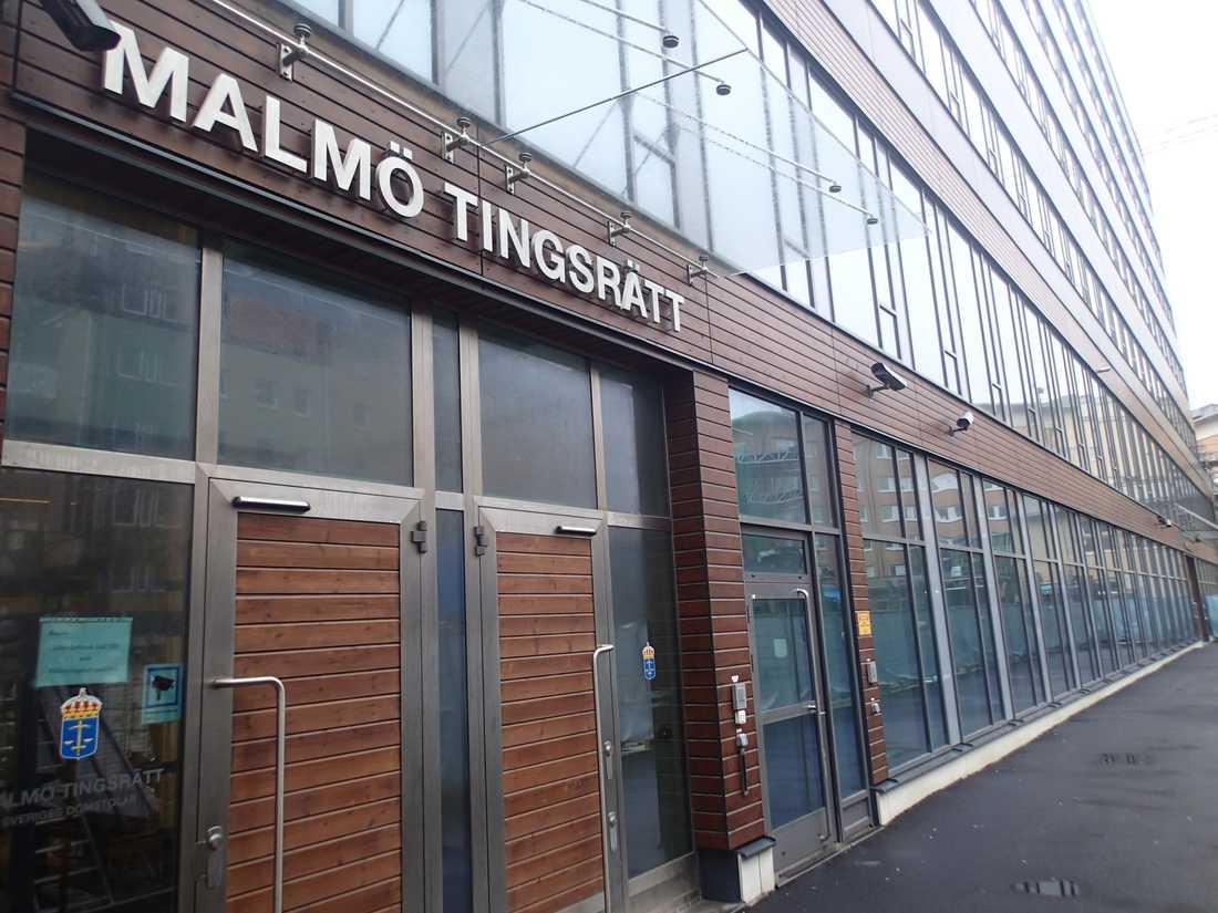 Trion åtalas vid Malmö tingsrätt. Arkivbild.