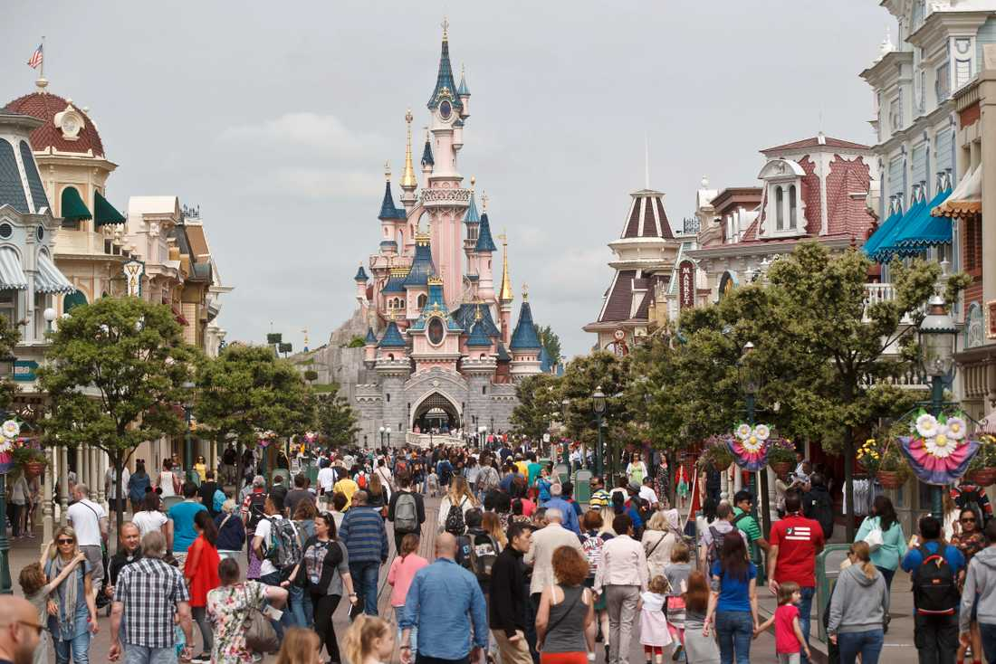 Disneyland för besökarna in i sagornas värld.