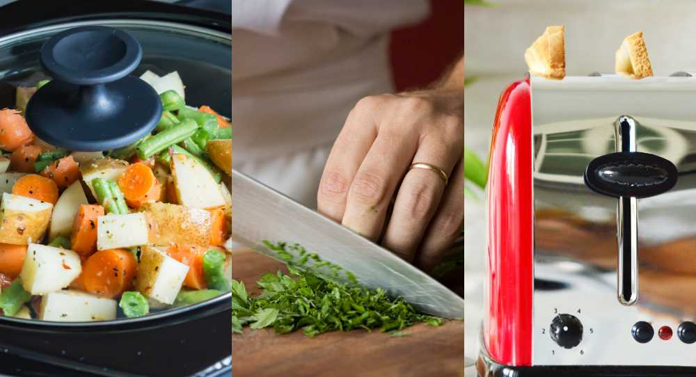 Slowcooker, vassa knivar och brödrosten är favoriter i köket.