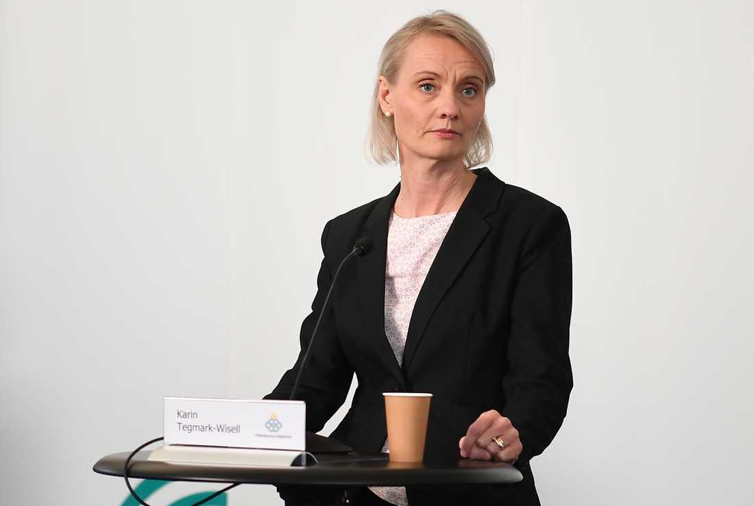 Karin Tegmark Wisell, avdelningschef på Folkhälsomyndigheten