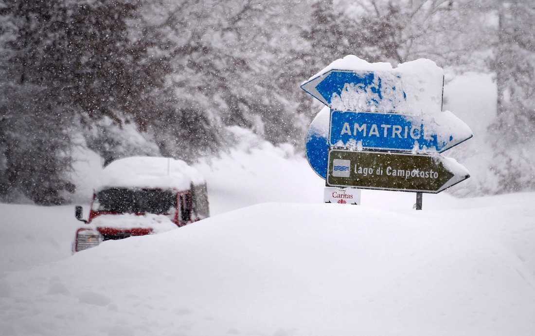 Skalven hade sina epicentrum nära Amatrice.