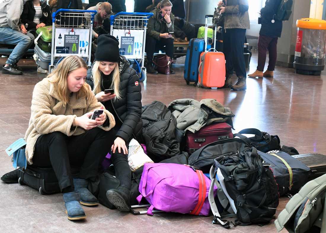 Många inställda avgångar från Arlanda.