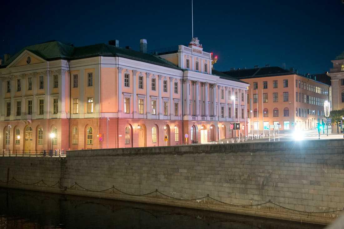 Utrikesdepartementet (UD) i Arvfurstens palats, i Stockholm. Arkivbild.