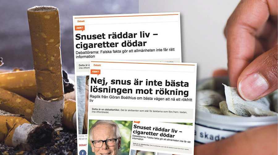 Vi är helt överens om att bekämpa den farliga rökningen. Skillnaden är att vi vill minska den betydligt snabbare än vad du och Tobaksfakta föreslår, skriver debattörerna.