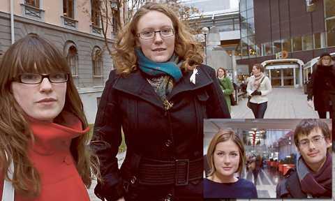 Försiktigt positiva Anna Antonsson och Petra Mansfield tror att de så kallade avstampsjobben kan vara bra. Men Julia Brzezinska och Love Sosa (lilla bilden) sågar Centerns Annie Johanssons förslag om ungas löner.