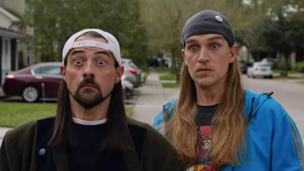 "Kevin Smith och Jason Mewes i ""Jay and Silent Bob reboot""."