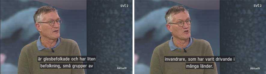 Anders Tegnell i SVT:s program Agenda på torsdagskvällen.