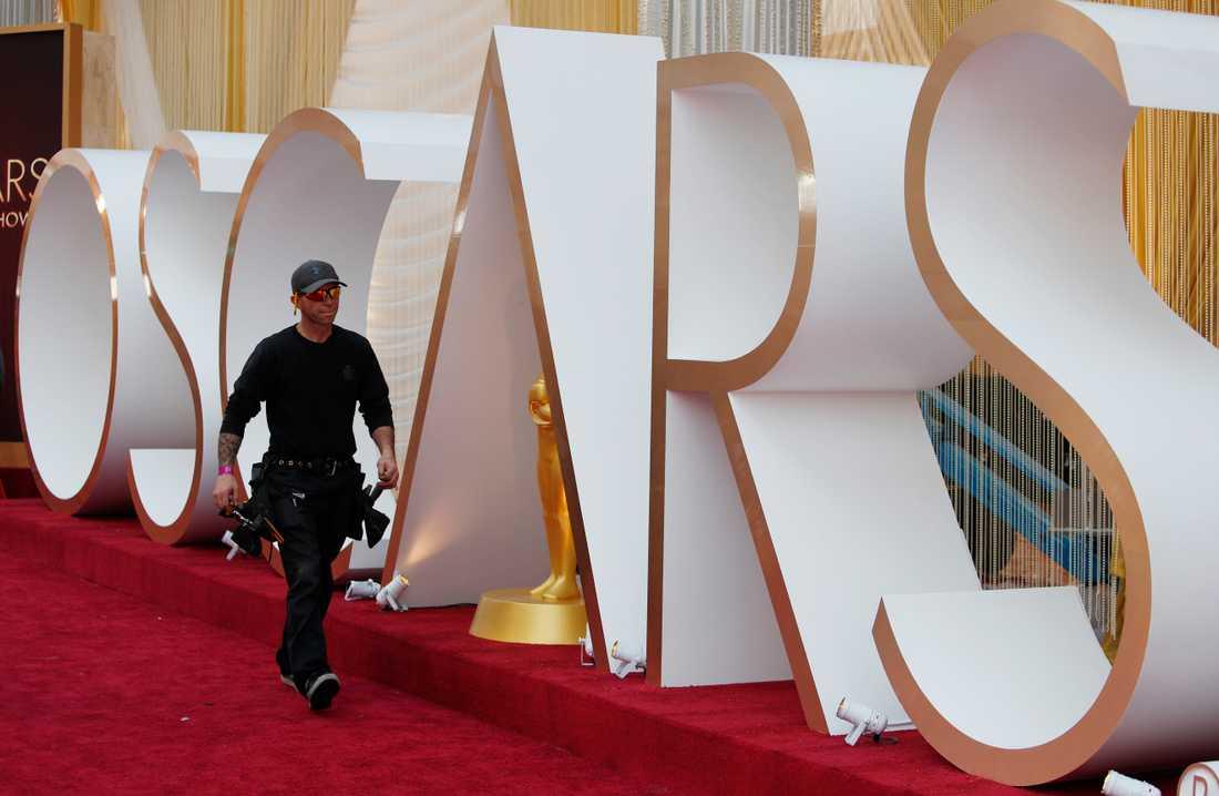 Förberedelserna pågår inför årets Oscarsgala.