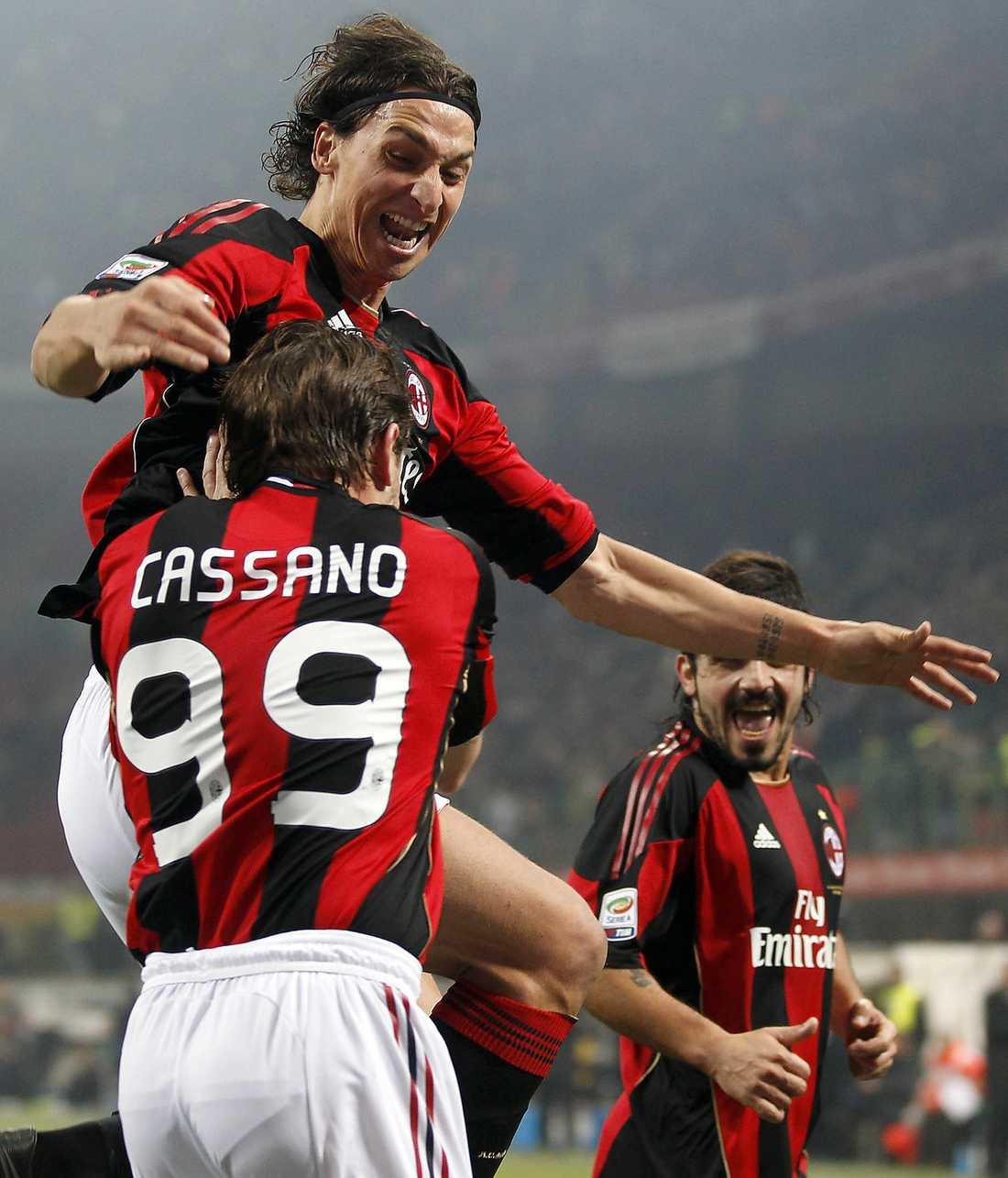 """Trivs ihop Zlatan hyllar sin nye lagkamrat. """"Cassano är en fantastisk spelare, inget snack"""", säger han till Sportbladet."""