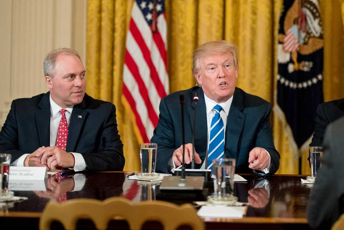 Steve Scalise med Donald Trump