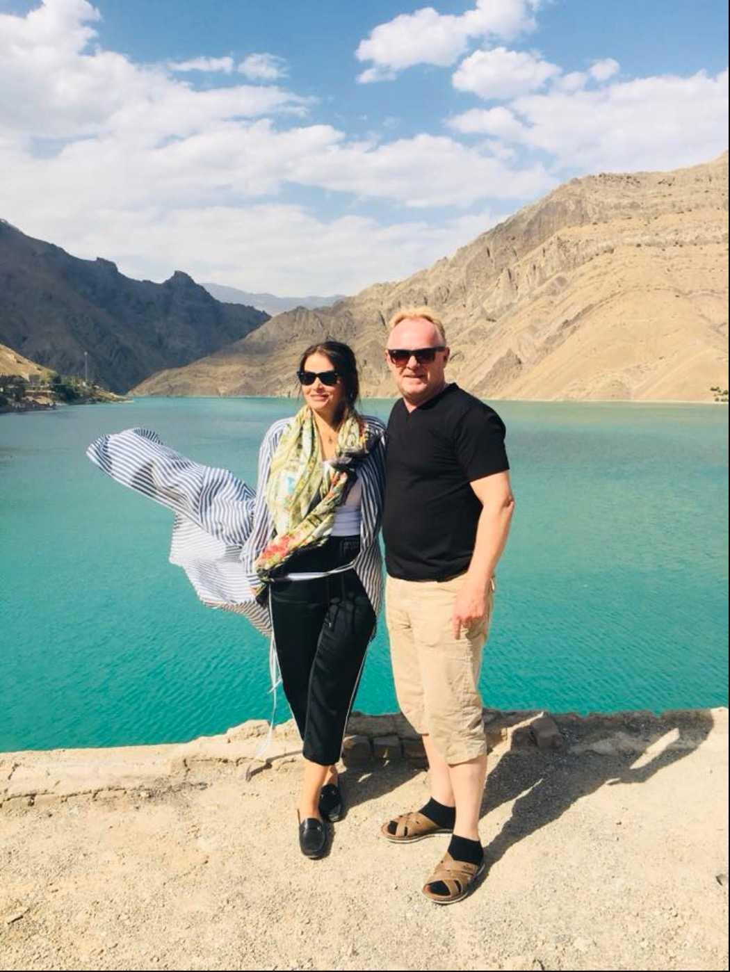 Bahareh Letnes och Per Sandberg i Iran den 31 juli.