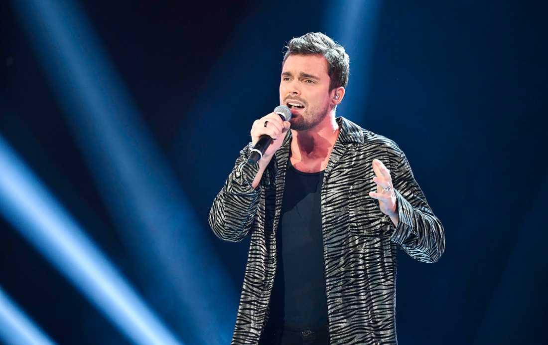 "Niklas Hultberg ska sjunga John Farnhams ""You're the voice"" i veckans ""Idol"". Arkivbild."