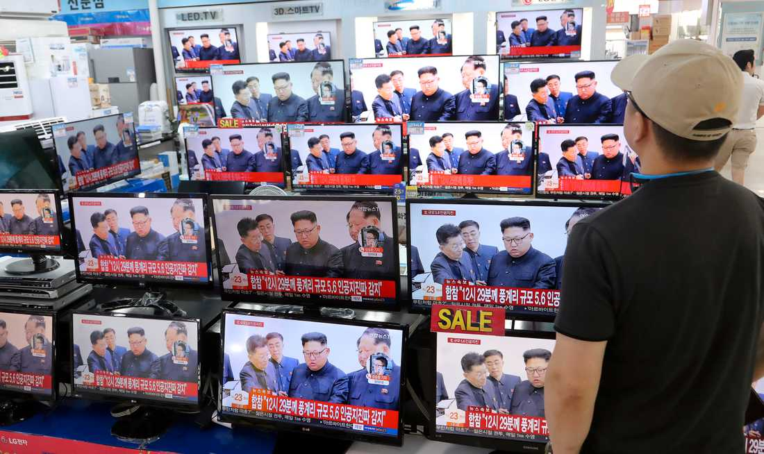 Nyhetsrapportering i Sydkorea.
