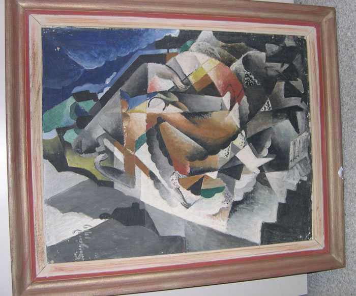 Modernisten Pär Siegårds (1887- 1961) tavla tros vara värd 200 000 kronor.