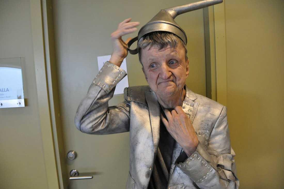 """Bosse spred alltid god stämning kring sig. Här backstage under """"Trollkarlen från Oz""""."""