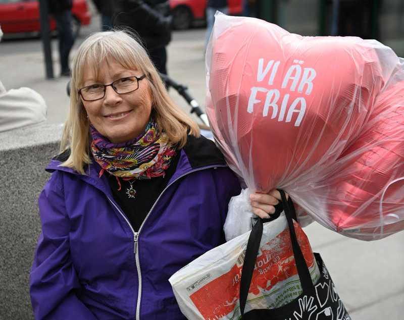 Madeleine, 62, deltog i demonstrationen.