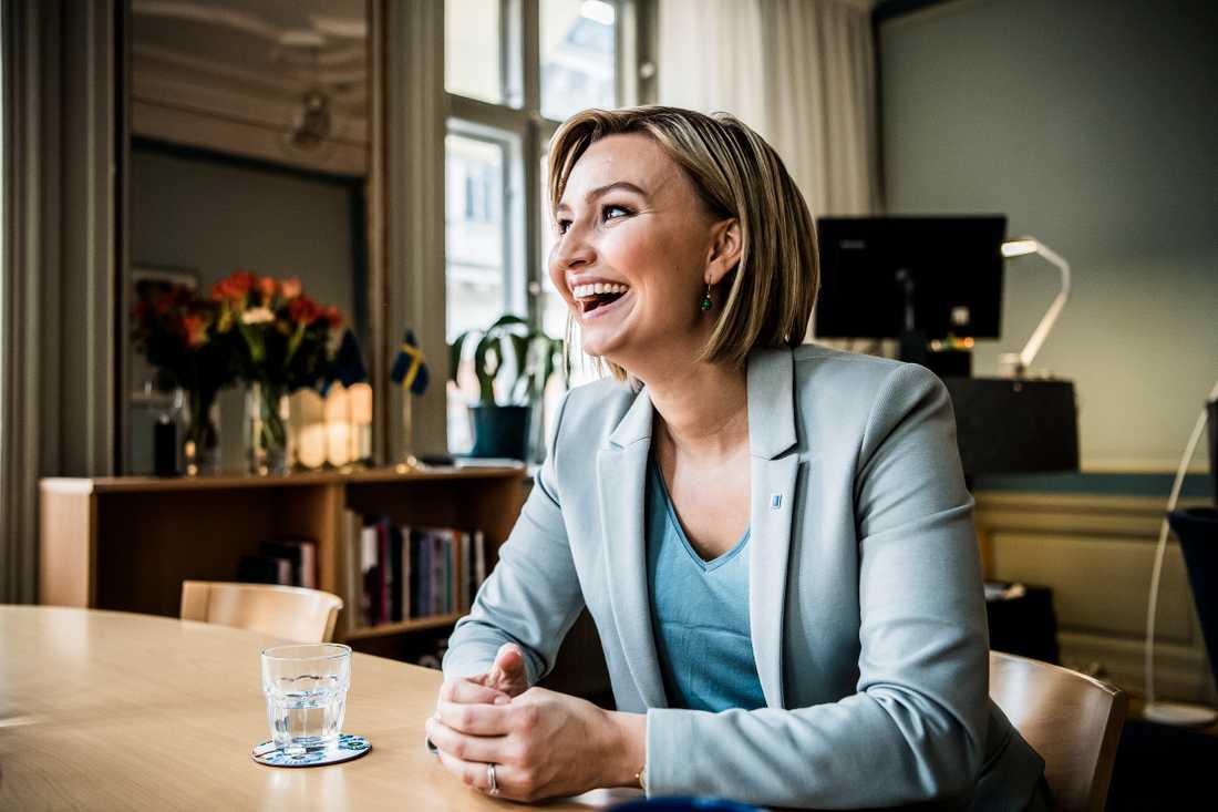 Ebba Busch Thor har öppnat för att förhandla med SD.