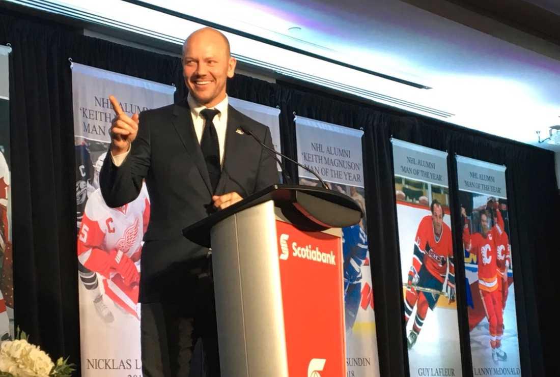 Mats Sundin hyllades under årliga NHL Alumni-galan tillsammans med Börje Salming och Nicklas Lidström