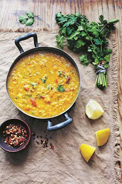 Masoor dal – indisk linssoppa. Recept av Zeina Mourtada.