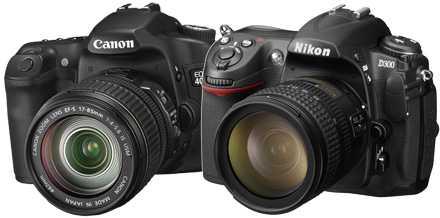 Testvinnarna från Canon och Nikon.