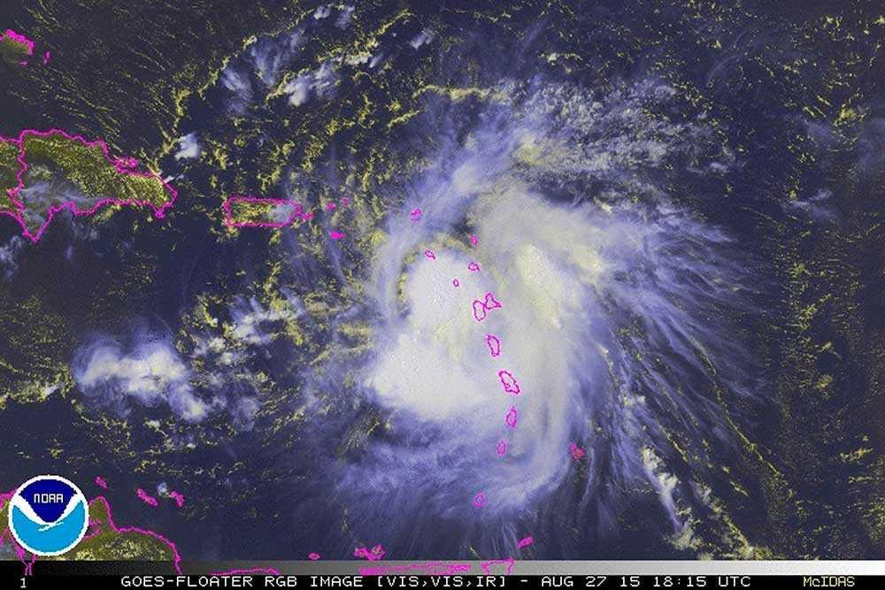 Satellitbild över den karibiska övärlden.