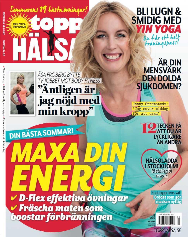 Jenny Strömstedt i kommande numret av Topphälsa