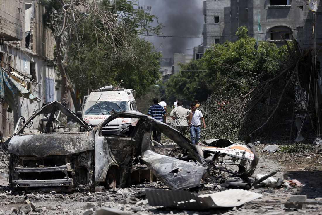 Förstörelse i Gaza.
