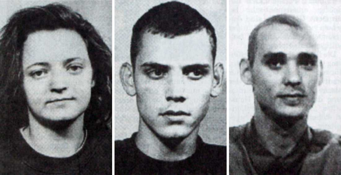 Beate Zschäpe, Uwe Mundlos och Uwe Böhnhardt.