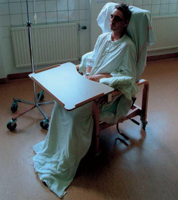 Christer minns inte den första tiden på Södersjukhuset.