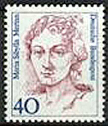 Bortglömd under Linnéfirandet, men i Tyskland finns hon på frimärken...