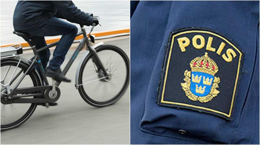 Polisen tog fast cyklisten som hade en trimmad cykel.