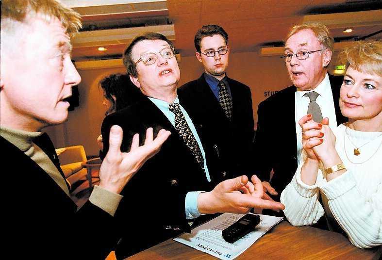 En av många debatter, med Andreas Carlgren, Carl Cederschiöld och Lena Adelsohn Liljeroth.