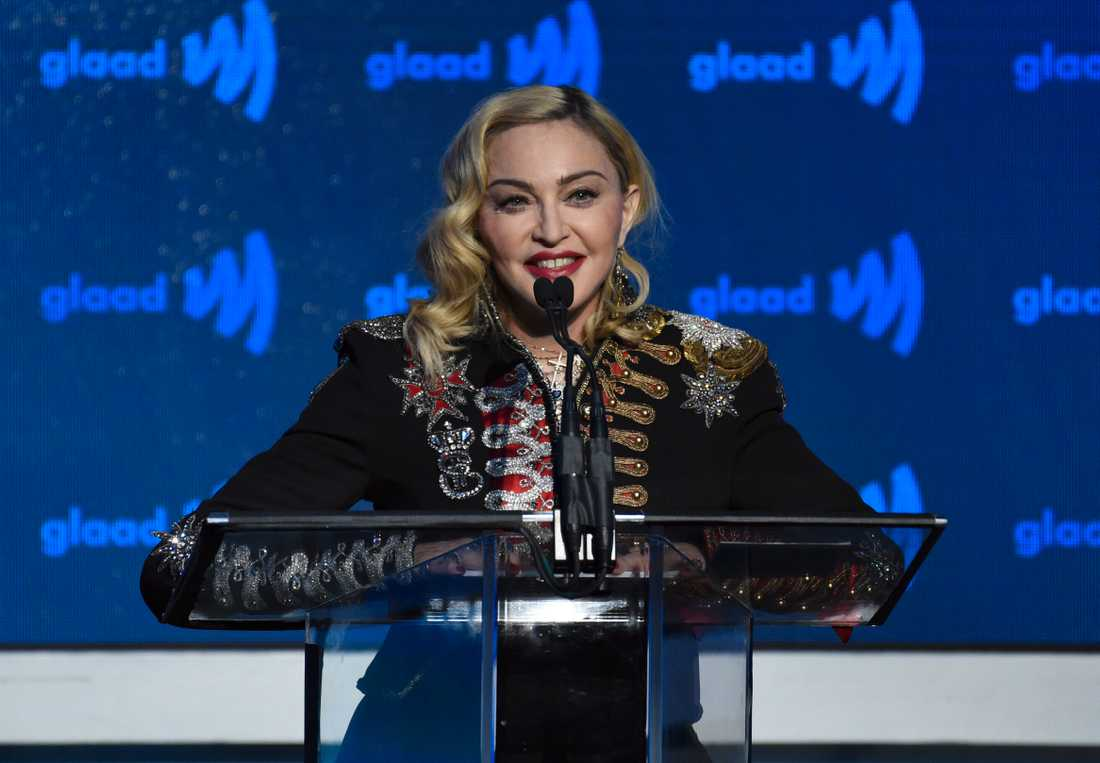 Madonna har ställt in en konsert på grund av en knäskada. Arkivbild.