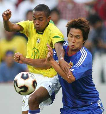 Robinho satte 1-0.