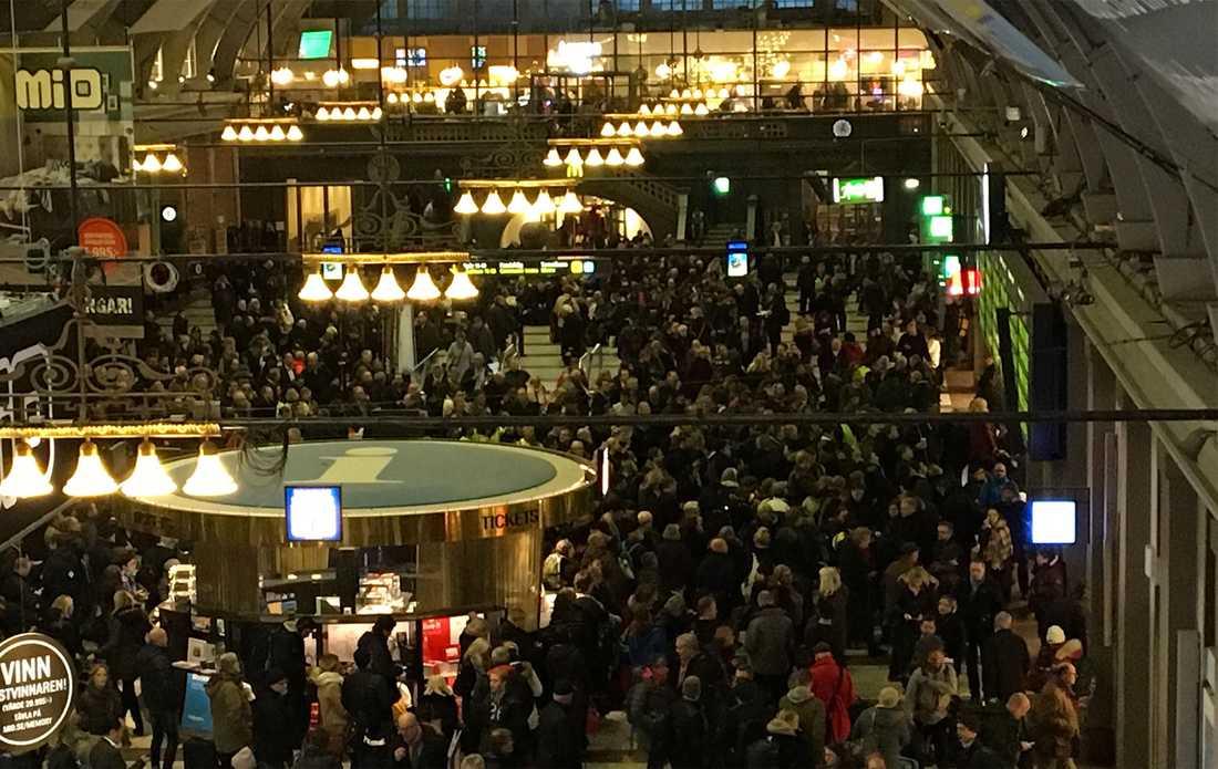 Stockholms centralstation på torsdagseftermiddagen.