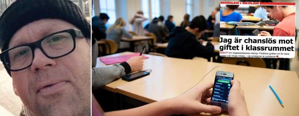 De som gnäller över mobiltelefonen i klassrummen är de som vill rulla på i gamla hjulspår, menar Anders Enström.