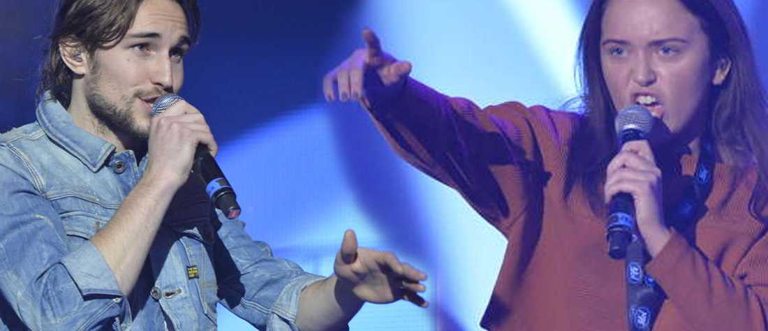 """Kevin Walker och Elin Bergman möts i kvällens """"Idol""""-final."""