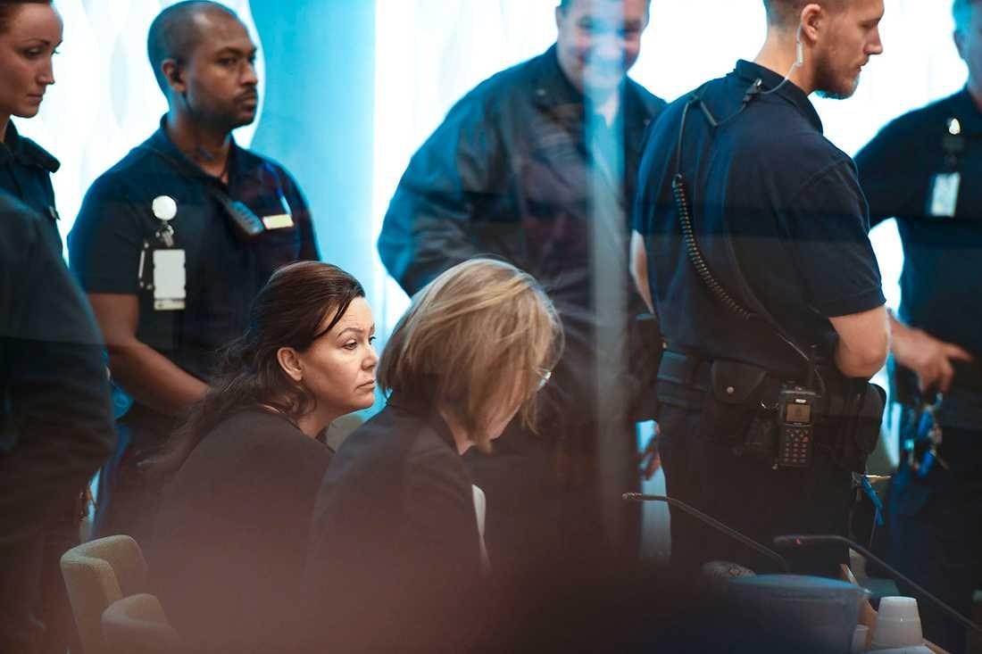 Johanna Möller under rättegångens sista dag.