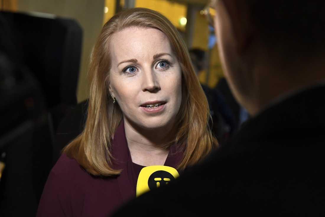 """Centerns partiledare Annie Lööf (C) anser att Moderaterna har presenterat """"genomarbetade analyser"""". Arkivbild."""