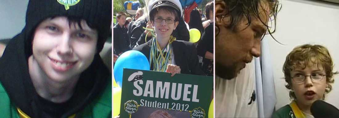 Samuel Ingesson var ett stort Björklöven-fan och prydde till och med sitt studentplakat med klubbloggan. Bilderna är hämtade från Samuels Facebook-sida med familjens tillstånd.