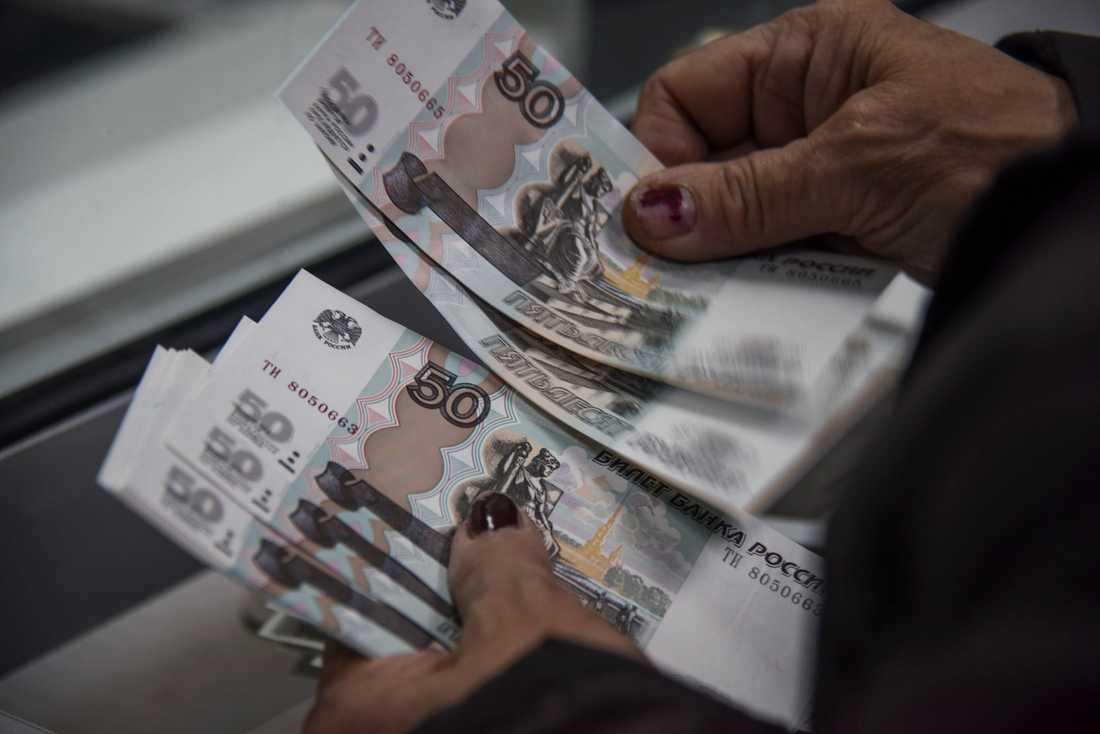 Svenska banker stoppar betalningar från ryska företag, enligt Rysk-svenska handelskammaren. Arkivbild.