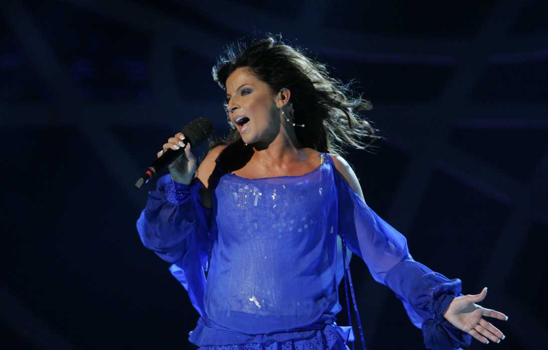 Carola Häggkvist i Melodifestivalen 2006.