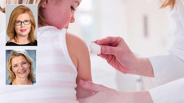 """Anna Starbrink och Lotta Edholm: """"Det egna valet att avstå från att vaccinera sina barn får inte gå ut över säkerheten för andra. Därför föreslår L:s sjukvårdsgrupp att föräldrar som väljer bort vaccin inte borde kunna välja förskola fritt."""""""